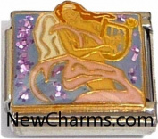 Angel And Harp Italian Charm Bracelet Jewellery Link
