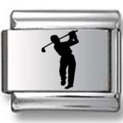 Silhouette of Golf Laser Italian Charm