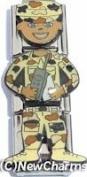 Ethnic Military Dude Italian Charm Bracelet Jewellery Link