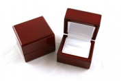 Gorgeous Premium Wooden Ring Box With Metal Hinge