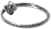 "Mother & Daughter Heart Charm Twist Bracelet in a Gift Box by Jewellery Nexus ,Mother Theme Mothers Day Gift ; ""Mothers and Daughters Share an Everlasting Bond"""