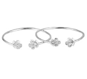 Flower .925 Sterling Silver West Indian Bangles