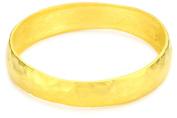 Kenneth Jay Lane Satin Gold Hammered Bangle Bracelet