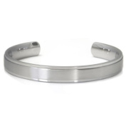 Titanium 10MM Cuff Bangle w/ Raised Centre