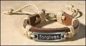 Kids Teen Forgiven Inspirational Bracelet Christian Religious Leather Bracelet