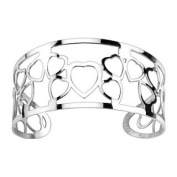 316L Stainless Steel Multi Hearts Pattern Cuff Bangle Bracelet - 31mm Width - Sold Individually
