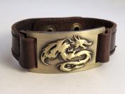Dragon Bracelet, Leather, Adjustable