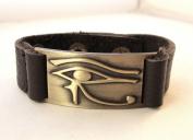 Horus Eye Bracelet, Leather, Adjustable