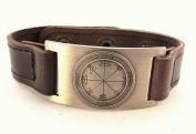 Sun Seal of Solomon Bracelet, Leather, Adjustable