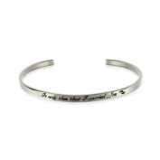 Footprints In The Sand Stainless Steel Cuff Bracelet