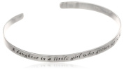 """Sterling Silver """"A Daughter Is A Little Girl Who Grows Up To Be A Friend"""" Cuff Bracelet"""