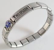 No Spleen Medical ID Alert Italian Charm Bracelet