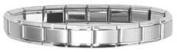 Clearly Charming Matte Starter Italian Charm 18 Link Bracelet