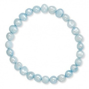 Blue Cultured Freshwater Pearl Stretch Bracelet Ladies Womens