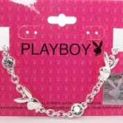 Playboy Bracelet. Crystals Bunny Logos Silver Plated Genuine Authentic Licenced Official Playboy Jewellery Jewellery