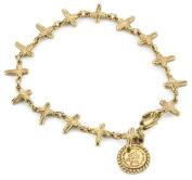 The Vatican Library Collection Gold-Tone Petite Crosses Bracelet