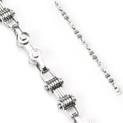 """316L Stainless Steel Bicycle Chain Bracelet - Length 8.66"""" (220mm) - Width 9mm"""