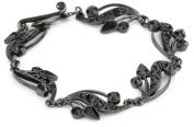 Antiquities Couture Jet Black Ornate Toggle Bracelet