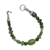 Relios Sterling Silver Green Multi-Gemstone Bracelet