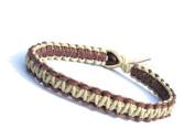 Brown and Natural Surfer Hawaiian Style Hemp Bracelet - Handmade