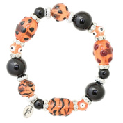 Clementine Design Kate & Macy Wild and Wonderful Bracelet Painted Glass Beads Rhinestones