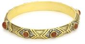 T.R.U. Jewellery Antique Gold-Tone Carnelian Crystal Bracelet
