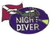 New Collectable Night Diver Scuba Diving Hat & Lapel Pin