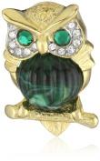 Kenneth Jay Lane Small Owl Brooch