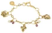 The Vatican Library Collection Faith, Love and Joy Charm Bracelet