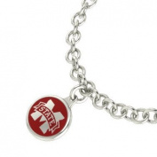 Mississippi State Bulldogs Sterling Silver Jewellery and Enamel Charm Bracelet.