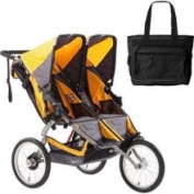 Bob ST1016 Ironman Duallie with Nappy Bag - Yellow