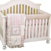Cotton Tale Designs Front Crib Rail Cover Up Set, Heaven Sent Girl