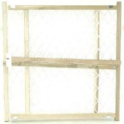 Gateway 13-276-50 Adjustable Wood Safety Gate with Plastic Mesh Screen