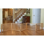 Four Paws Free Standing 3 Panel Walk Over Wood Gate Size