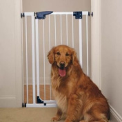 Pet Pals ZW858 95 Pet Studio Pressure Mounted X-Tall Gate White Q