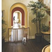 Richell R94193 Premium Plus Freestanding Pet Gate with Door Brown 34 - 160cm . x 26 - 52.1cm . x 81.3cm .
