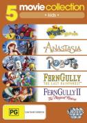 Anastasia (1997) / FernGully / FernGully 2 / Robots / The Wiggles Movie  [Region 4]