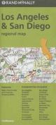Rand McNally Los Angeles & San Diego, California Regional Map