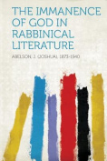 The Immanence of God in Rabbinical Literature [GER]