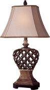 Ambience 10821-0 Accent Lamp 1-150 W Warm Pecan w/Silver