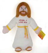 36cm Jesus, I Love You Huggable Jesus Plush Doll Toy with John 3:16 on Bottom
