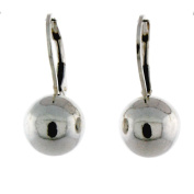 Sterling Silver Leverback 10mm Ball Earring