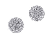 Crystal Ball and Sterling Silver Stud Earrings