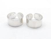 Sterling Silver Plain High Polish Huggie Ear Cuff Pair Earrings