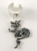 Sterling Silver Oriental Dragon Ear Cuff