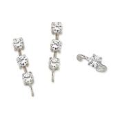 The Ear Pin Cubic Zirconias Earcuff in Silver 7.6cm -1 Earrings