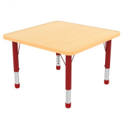 Early Childhood Resource ELR-14117-MMGN-SB 121.9cm . Maple Square Adjustable Activity Table with Maple Edge and Green Standard Leg Ball Glides