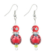 Clementine Design Kate & Macy Crabby Chic Nautical Earrings Painted Glass Rhinestones