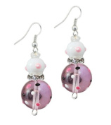 Clementine Design Kate & Macy Pink Passion Earrings Painted Glass Rhinestones