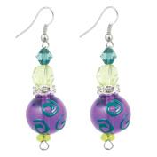 Clementine Design Kate & Macy Dazzling Dragonflies Earrings Painted Glass Rhinestones